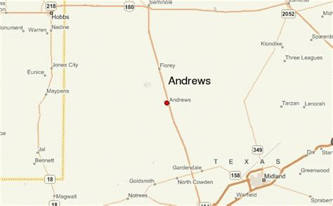 andrew texas map location guide