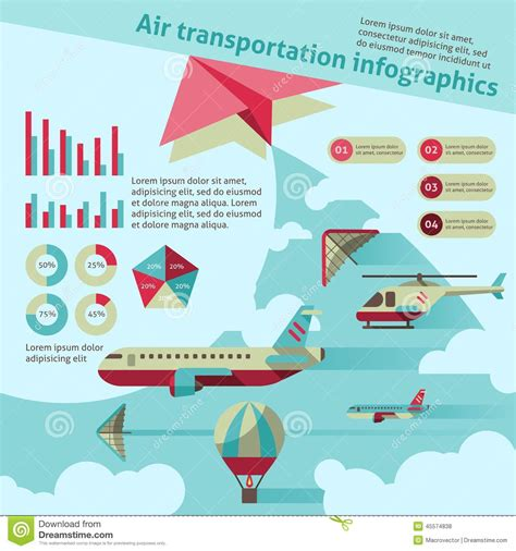 air transport infographic stock vector image 45574838