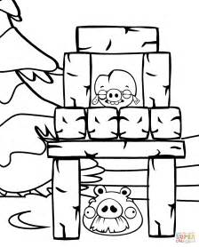 angry birds halloween coloring page foreman and corporal pig coloring page free printable