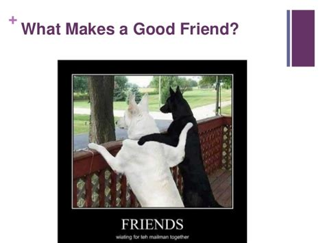 what a great what makes a friend