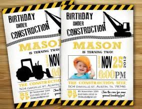 construction birthday invitation invite personalized