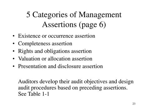 5 Audit Assertions by Ppt Auditing Assurance Powerpoint