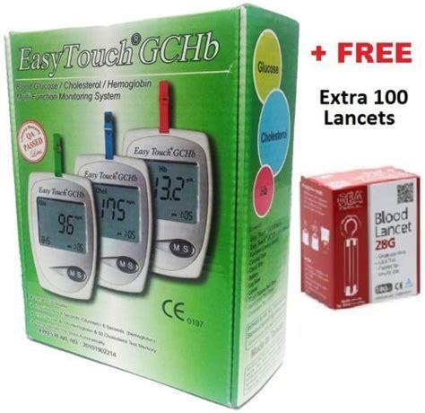 Easy Touch Blood Hemoglobin Easy Touch Gchb Blood Glucose Cholesterol Hemoglobin Test