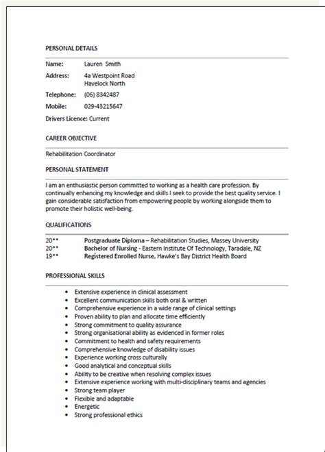 Resume Template Nz by Resume Template New Zealand Simple Resume Template
