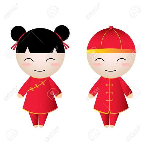 new year doll vector china clipart doll pencil and in color china
