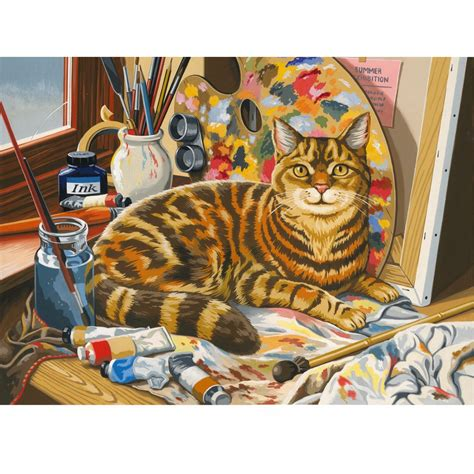 Cat Acrylic Reeves the artist s cat large paint by numbers craftyarts co uk