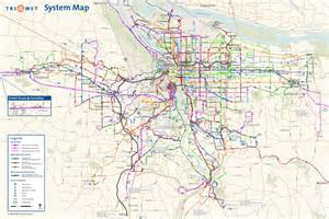 portland subway map map travel vacations