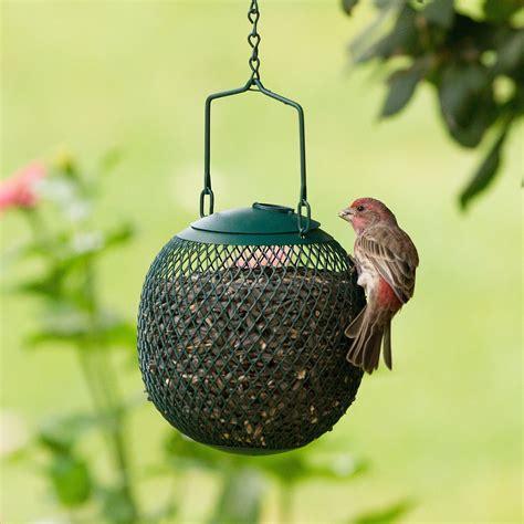 no no green seed ball metal wild bird feeder dispenses