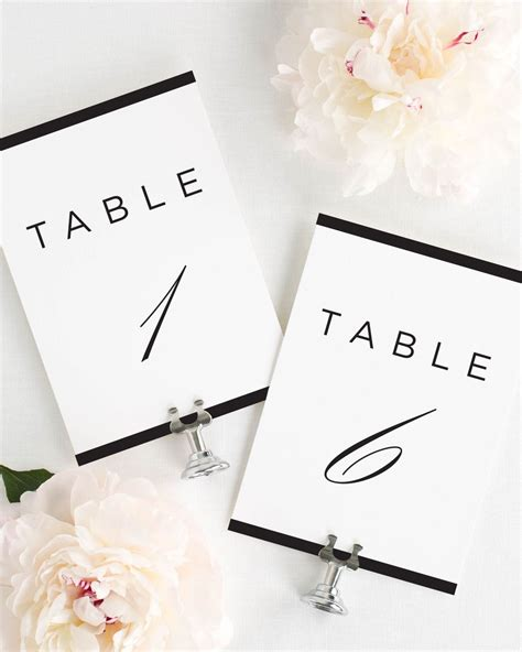 modern wedding table numbers modern table numbers table numbers by shine