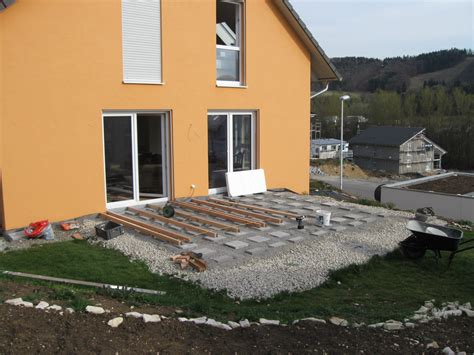 veranda unterkonstruktion terrasse