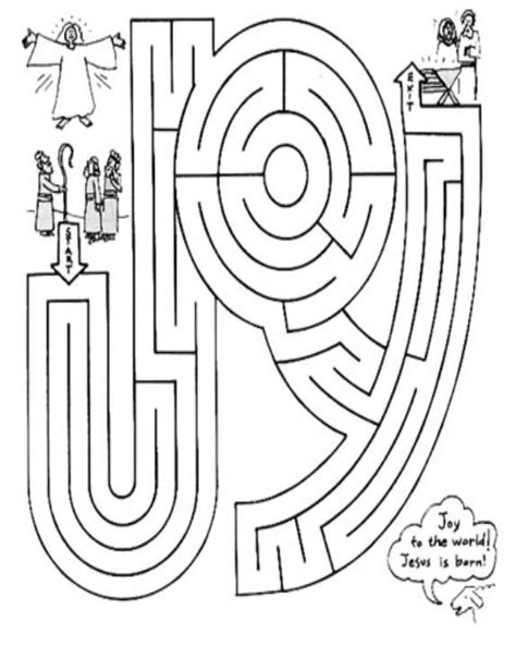 bible coloring pages joy joy maze jesus pinterest maze births and christmas