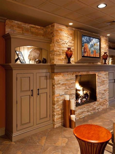 beautiful fireplace w cabinets ideas for my basement