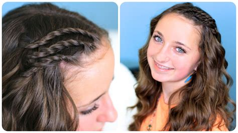 cute hairstyles youtube triple lace side twists cute girls hairstyles youtube