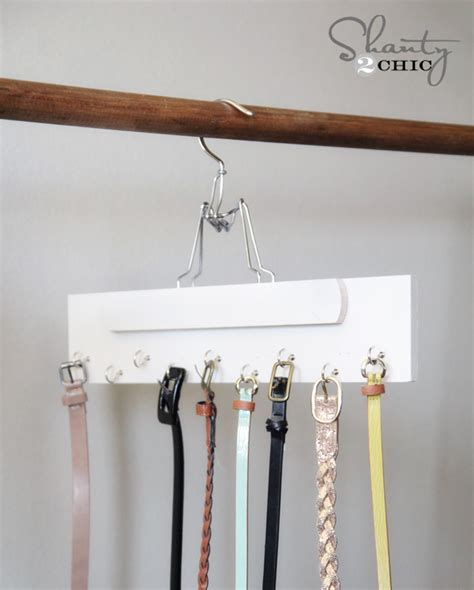 closet organization diy belt hanger shanty 2 chic