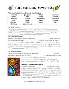 solar system comprehension worksheets page 3 pics