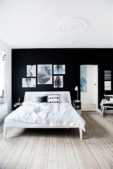 Monochrome Bedroom Design Ideas 白 黒 グレーのモノトーン壁ペイントおしゃれなインテリア30選