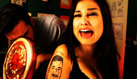 a completely botched portrait tattoo nightmares spike