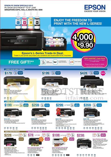 Printer Epson Stylus L300 epson printers inkjet l110 l300 l800 l210 l350 l355