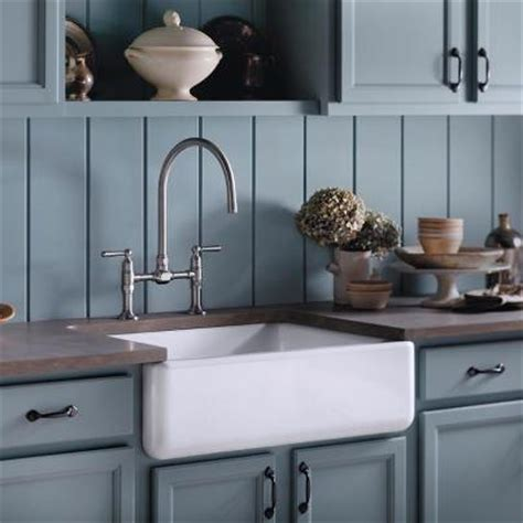 kohler farmhouse sink and faucet kitchen design