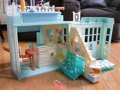 barbie doll beach house details about mattel barbie beach bungaow house w original