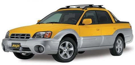 yellow subaru baja subaru baja the journeyler