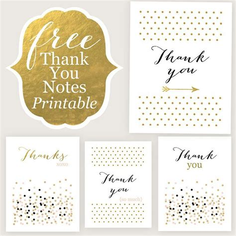 Free Printable Thank You Cards In