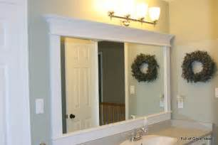 full of great ideas framing a builder grade mirror that