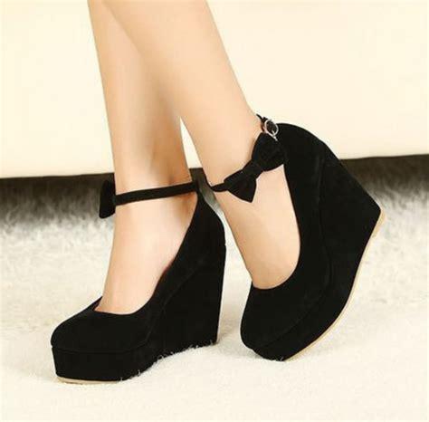 wedges black bow shoes black wedges black wedges suede suede wedges