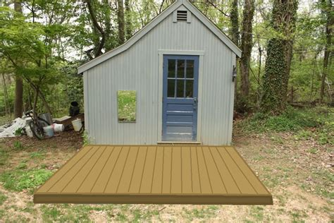 Shed With Deck by Shed Let S The