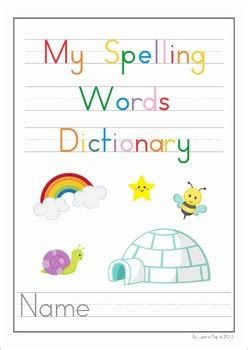 My Dictionary by My Spelling Sight Words Dictionary Free By Lavinia Pop Tpt