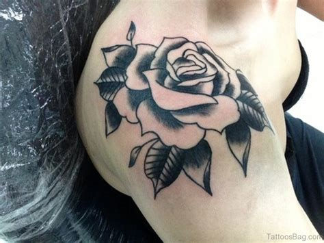 what to add to a rose tattoo 86 attractive black and grey tattoos on shoulder