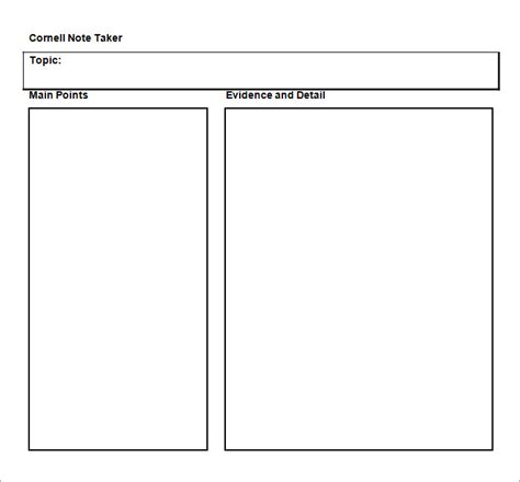cornell notes template 51 free word pdf format free premium templates