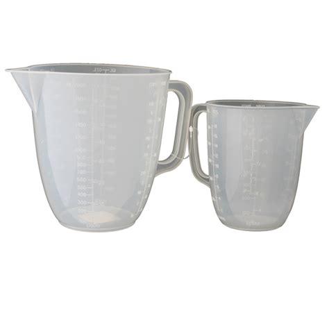 metaltex plastic 1l 2l measuring jugs from ocado