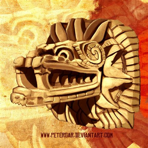 quetzalcoatl la serpiente emplumada by petergar on deviantart
