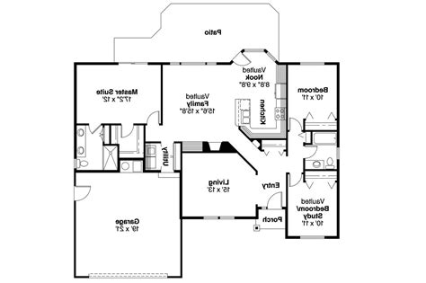 House Floor Plans Ranch by Ranch House Plans Bingsly 30 532 Associated Designs