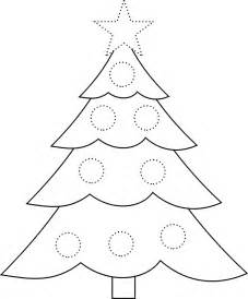 traceable christmas tree picture star and circles