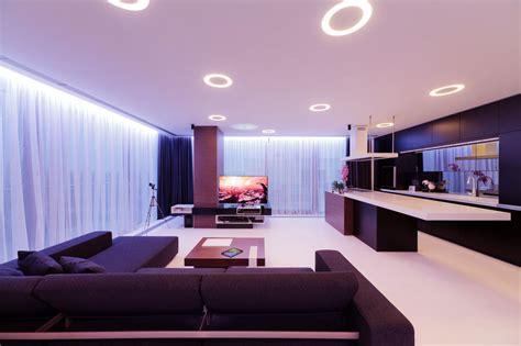 Decorations : Contemporary Apartment Decoration Ideas With Unique Ceiling Recessed Lighting