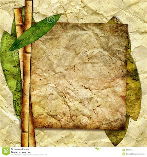 Paper From Bamboo - bamboo paper stock images image 6226784