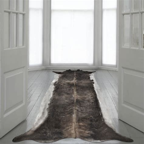 Cowhide Runner Rug Stretched Cowhide Runner Rug By I Retro