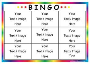 bingo board template word editable book labels or name tags k 3 resources