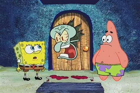 squidward bathtub imgs for gt squidward yelling at spongebob and patrick
