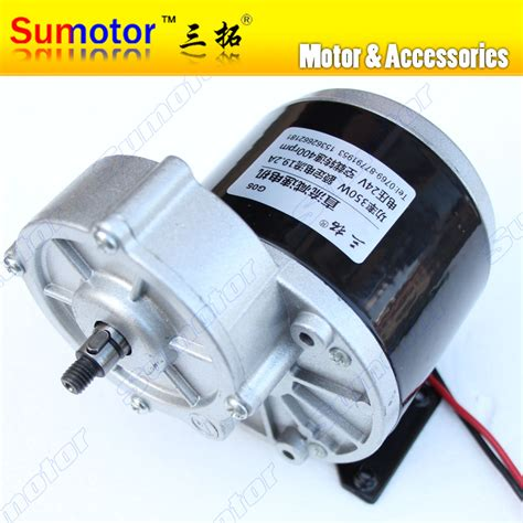 Jual Dc Motor 24v dc 24v 350w 400rpm high torque metal gear box reducer dc geared motor for industrial machinery