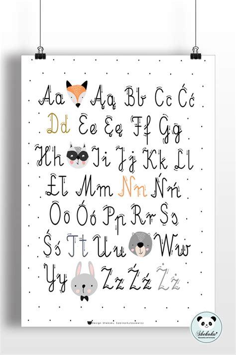 Plakat Alfabet by Plakat Edukacyjny Alfabet I Pisownia Shekoku