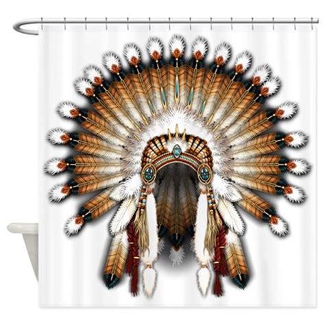 native american curtains native war bonnet 01 shower curtain by naumaddicarts