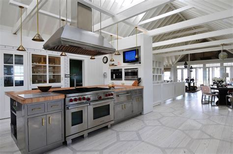 Painted Kitchen Floors Honeycomb Painted Floor Contemporary Kitchen Nate Berkus Design