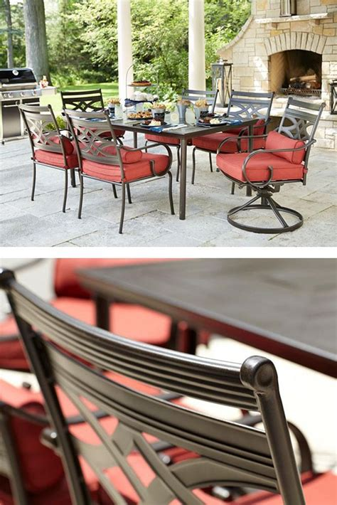 hton bay middletown 7 patio dining set with chili