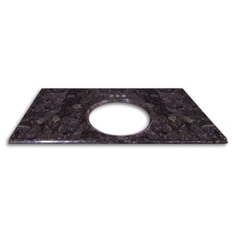 Oval Bathroom Sinks Granite Vanity Top 49wide 22deep Color Ubatuba Home Surplus