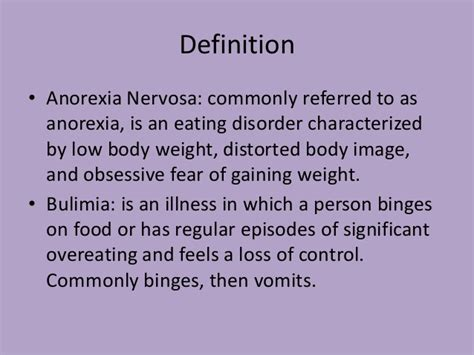Compare And Contrast Bulimia And Anorexia Essay by Definition Essay On Bulimia