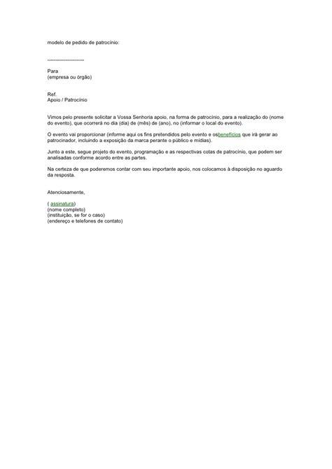 modelo de carta de pedido newhairstylesformen2014 com modelo de carta de patrocinio modelos de curriculum