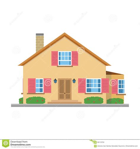 Garage With Apartment Plans by Cute Cartoon Vector Illustration Of A Residential Villa